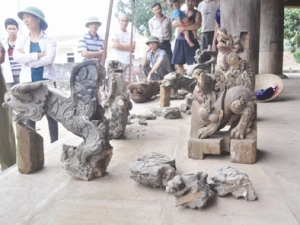 Bốn con rồng đất bị giấu được nhân dân thôn Quang Húc, xã Đông Quang (huyện Ba Vì, Hà Nội) phát hiện.
