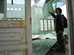Điểm trường làng Lơng Khương, xã Tơ Tung, huyện Kbang bị hư hỏng nặng