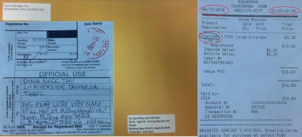 Registered mail