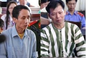 Hai tử từ Hàn Đức Long và Nguyễn Thanh Chấn - một người đã thoát án tử.