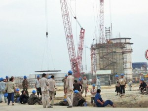 Công nhân Trung Quốc làm việc tại Dự án Formosa (Hà Tĩnh) đa số là lao động phổ thông. Ảnh: báo LĐ