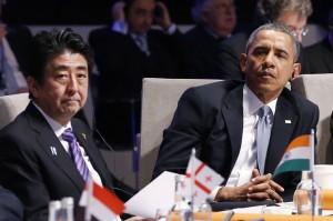 Thủ tướng Nhật Shinzo Abe và Tổng thống Barack Obama. Ảnh: AP