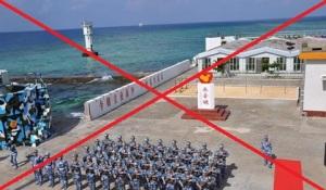 Binh lính Trung Quốc tại đảo đá Chữ Thập mà nước này chiếm đóng trái phép của Việt Nam từ năm 1988 đến nay