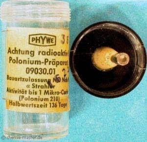 Chất phóng xạ polonium 210