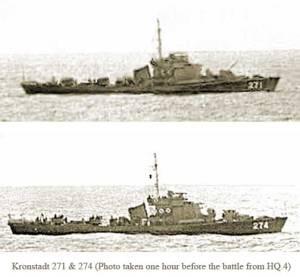 Hộ tống hạm Kronstadt 271 và 274 HQTC