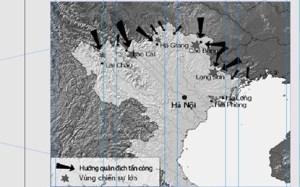 Sơ đồ cuộc chiến tranh biên giới phía Bắc do Trung Quốc phát động ngày 17.2.1979. Ảnh Wiki