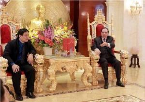 """""""Ngai vàng"""" của Nông Đức Mạnh. Hình được đăng đầu tiên trên báo Tiền Phong."""