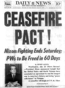 Hình bìa của tờ New York Daily, ngày 24-1-1973