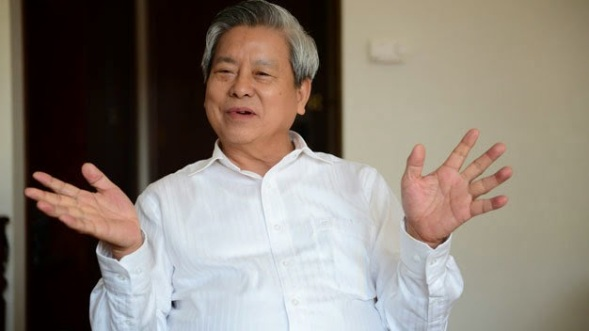 Ông Kim Quốc Hoa - Tổng biên tập báo Người cao tuổi. Ảnh: Quang Định - báo Tuổi Trẻ 09/02/2015