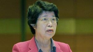 Bà Cù Thị Hậu - Chủ tịch Hội Người cao tuổi VN- Ảnh: V.Dũng - Tuổi Trẻ 10/02/2015
