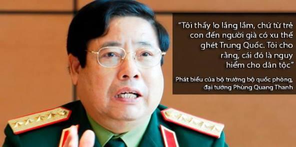 Đây ông tướng chỉ huy toàn quân chống xâm lược nhưng lại sợ... Tầu xâm lược