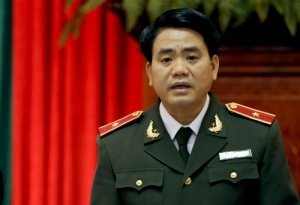 Giám đốc công an Hà Nội Nguyễn Đức Chung cho biết lực lượng công an thành phố luôn tôn trọng các hoạt động của những người dân yêu nước. Ảnh: Bá Đô.