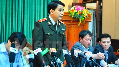 Giám đốc Công an TP Hà Nội Nguyễn Đức Chung. Ảnh: Vietnam+