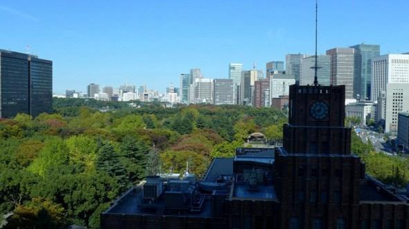 Công viên rộng lớn giữa Tokyo dù đất đắt hơn vàng. Ảnh: HM