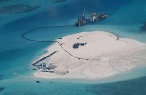 Vùng đảo Gạc Ma nhìn từ trên cao, ảnh minh họa chụp hôm 15/5/2014