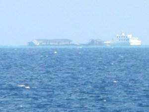 Đảo Gạc Ma bị Trung Quốc chiếm giữ trái phép từ ngày 14.3.1988 - Ảnh: Mai Thanh Hải chụp tháng 4.2013