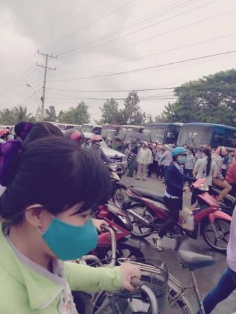 Cảnh ngoài đường tại KCN Tân Hương-Tỉnh Tiền Giang