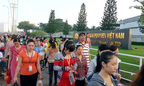Một nửa công nhân Pouyuen Bình Tân đã trở lại làm việc