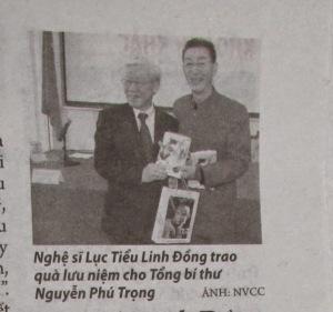 Ảnh trên báo giấy Thanh Niên ngày 10-4-2015