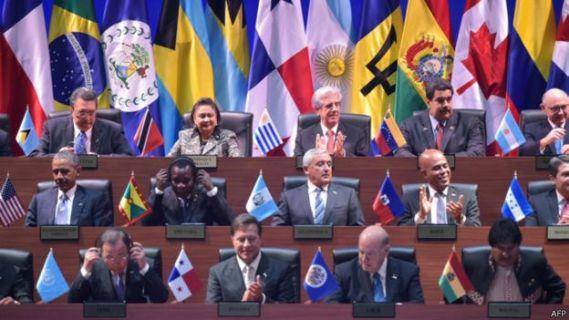 Lãnh đạo các quốc gia khối châu Mỹ trong hội nghị ở Panama