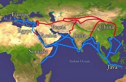 """Và đây """"con đường tớ lừa trên biển"""", nối cả đất nước 2 ta với châu Phi, châu Âu, qua cảng Hải Phòng"""