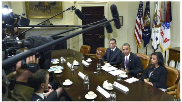 Blogger Điếu Cày gặp Tổng thống Hoa Kỳ hôm 01/05/2015