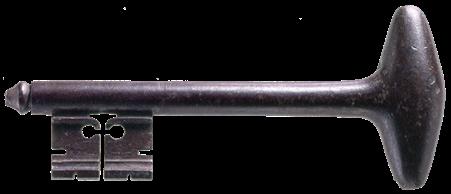 Chìa khoá ngục Bastille, nặng 1 pound, 3 ounces, do Lafayette tặng Washington