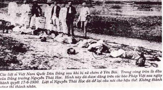 """85 năm Ngày Tang Yên Báy: Không ai trong số họ đã hô """"Việt Nam Quốc Dân Đảng muôn năm"""""""