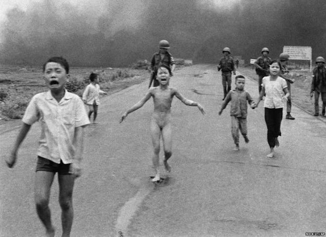 Bức ảnh 'Em bé Napalm' được báo chí dùng nhiều trong Cuộc chiến Việt Nam