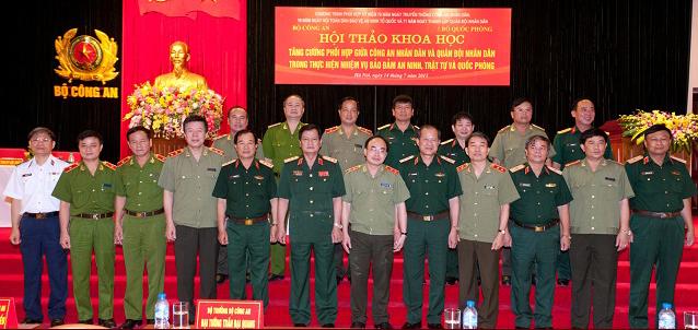 Bộ trưởng quốc phòng Phùng Quang Thanh được nói đã gửi bài 'tham luận' đến một 'hội thảo khoa học' do bộ công an và quốc phòng tổ chức hôm 14/7/2015 tại Hà Nội
