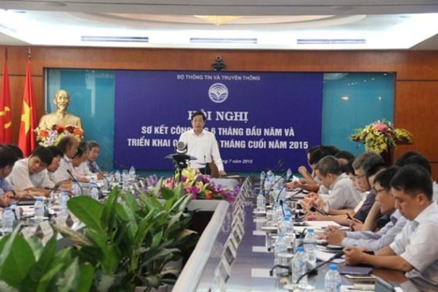 Hội nghị Sơ kết 6 tháng đầu năm của Bộ Thông tin và Truyền thông. (Nguồn: mic.gov.vn)