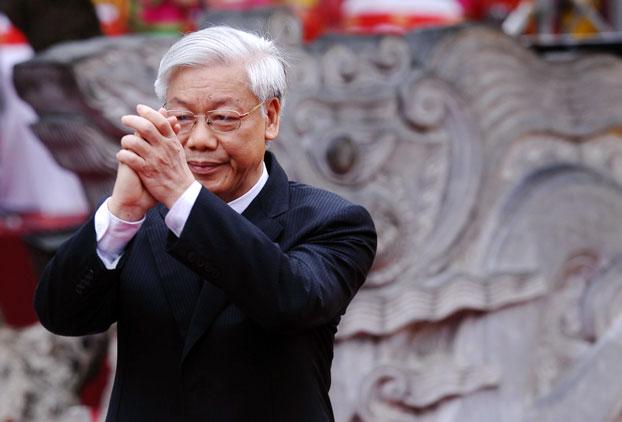 Tổng bí thư đảng cộng sản Việt Nam, ông Nguyễn Phú Trọng, ảnh minh họa chụp trước đây.
