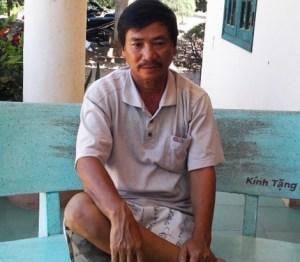 Thuyền trưởng Nguyễn Nhật Ngọc vẫn chưa hết bàng hoàng sau vụ bị tàu Trung Quốc tấn công. Ảnh: HT