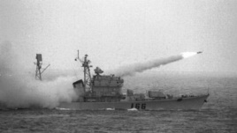 Tàu chiến Trung Quốc phóng tên lửa trong một cuộc tập trận ở Biển Đông (Ảnh tư liệu)
