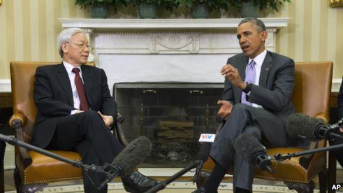 Tổng Bí thư Nguyễn Phú Trọng nói ông và Tổng thống Obama đã có cuộc trao đổi thẳng thắn. Và ông cũng nói thêm rằng, 20 năm trước, khó có thể tưởng tượng là một Tổng bí thư của Đảng Cộng sản Việt Nam lại có dịp gặp Tổng thống Mỹ.