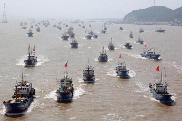 9.000 tàu cá Trung Quốc rầm rộ tiến vào Biển Đông - Ảnh: Tân Hoa xã