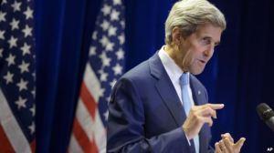 Ngoại trưởng Mỹ John Kerry phát biểu trong một cuộc họp báo ngày 6/8/2015. Ngoại trưởng Mỹ John Kerry phát biểu trong một cuộc họp báo ngày 6/8/2015