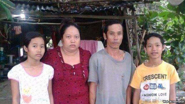 Sự việc liên quan tới gia đình em Nguyễn Mai Thảo Vy (ngoài cùng bên trái) rộ lên hồi tháng Tư vừa qua trong vụ phản kháng cưỡng chế đất đai ở huyện Thạnh Hóa, Long An