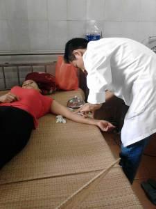 Tại bệnh viện Hà Đông