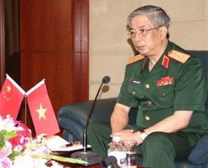 Thượng tướng Nguyễn Chí Vịnh, Thứ trưởng Bộ Quốc phòng Việt Nam. Ảnh minh họa chụp trước đây.