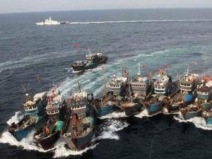 Tàu cá Trung Quốc (Ảnh: Tân Hoa Xã)