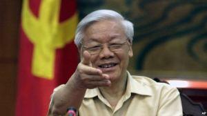 Ông Nguyễn Phú Trọng trong một cuộc họp báo tại Hà Nội, ngày 3/7/2015