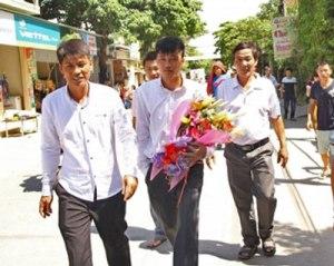 Tù nhân lương tâm Thái Văn Dung, một trong 14 Thanh Niên Công giáo và Tin lành, vừa mãn hạn tù 4 năm