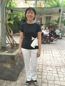Cô giáo Võ Thị Thanh Hải. (Hình: Việt Hùng/Người Việt)
