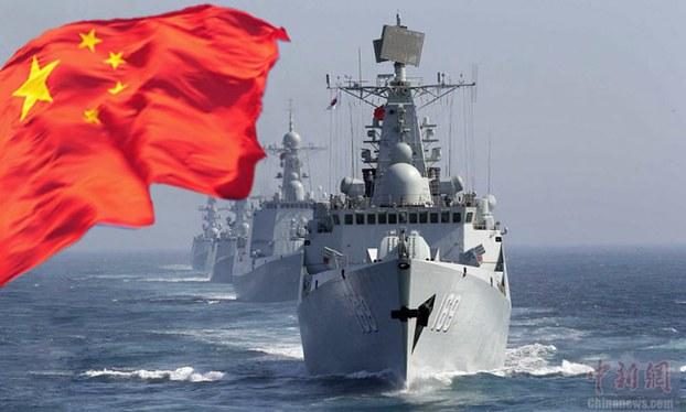 Hải quân Trung Quốc hoạt động trên biển Đông. Photo: Chinanews