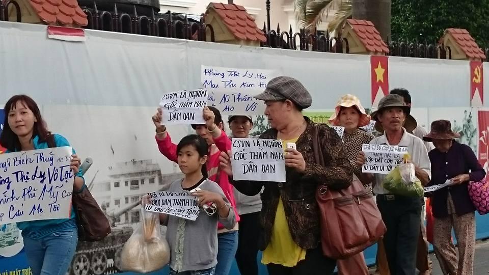 Tuần hành tại Sài Gòn sáng ngày 15/9/2015