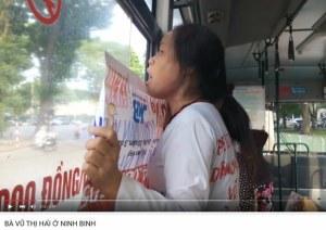 Bà Vũ thị Hải bị bắt lên xe đang kêu cứu ngày 9 tháng 6, 2015