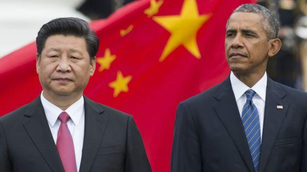 Tổng thống Hoa Kỳ Barack Obama đã tỏ ra thẳng thắn trong cuộc tiếp Chủ tịch TQ Tập Cận Bình ở Nhà trắng hôm 25/9/2015. Photo: Getty