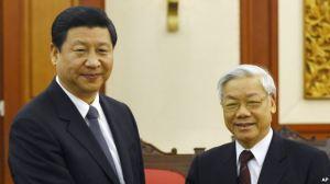 Ông Tập Cận Bình và Tổng Bí thư đảng CSVN Nguyễn Phú Trọng
