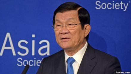 Chủ tịch Việt Nam Trương Tấn Sang phát biểu tại Hội châu Á ở New York hôm 28/9.